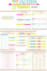 Holiday Planner Template Printable Vacation Planner For The Organized Traveler