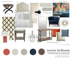 Edesign Orange Navy Master Bedroom Curio Design Studio