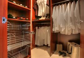 grand brown wooden open cabinetry added clothes hanger also racks as closet systems organization