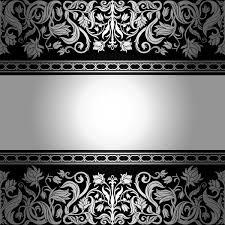 black silver baroque vector images