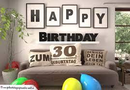 Happy Birthday 30 Jahre Wohnzimmer Sofa Mit Kissen Und Spruchjpg