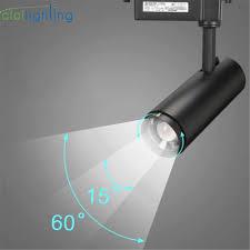 Light Rail Lighting Modern Zoom Led Track Lights Rail Mounted Cob Spotlights