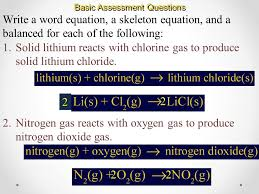 13 basic sment questions write a word equation a skeleton