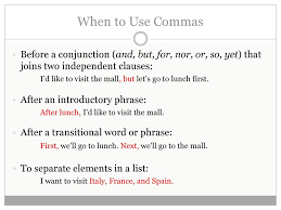 When To Use Comma Commas How To Use Commas Correctly How To Avoid Comma Splices