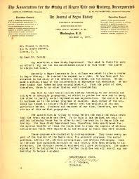woodson letter