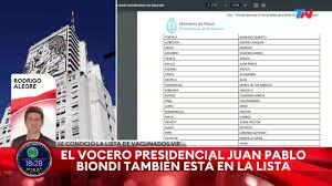 TN Todo Noticias - LA LISTA COMPLETA DE LOS VACUNADOS VIP EN EL POSADAS