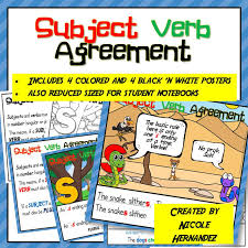Subject And Verb Agreement Anchor Chart A Teachers Idea Grammar Rules The Basic Rule Of Subject