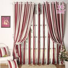modern minimalist red stripe curtains upscale thick chenille fabric