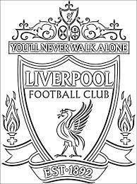 Kleurplaat Van Liverpool Fc Logo Gratis Kleurplaten