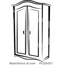 furniture clipart black and white. Interesting Furniture Furniture Clipart 1229357  Illustrationvector Tradition Sm In Closet  Black And White 35091 In L