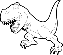 Simple T Rex Coloring Pages