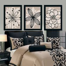 black wall art for bedroom