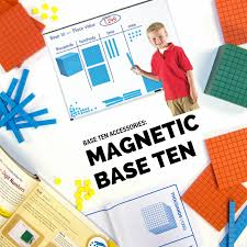 Magnetic Place Value Chart Giant Magnetic Base Ten Set Base Ten Blocks Subtraction