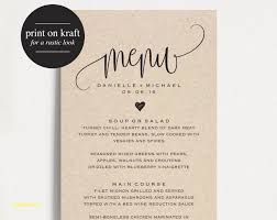 Free Bar Menu Templates Lovely Free Wedding Menu Templates Popular