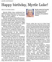 Myrtle Willis Luke - Newspapers.com