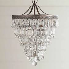 clarissa crystal drop small round chandelier extra large