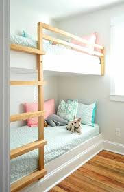 diy bunkbeds built in wall to wall bunk beds with chihuahua on bottom bunk