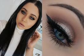warm silver soft cut crease smokey eye makeup tutorial