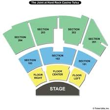 Hard Rock Tulsa Seating Chart The Joint Seating Chart Related Keywords Suggestions The