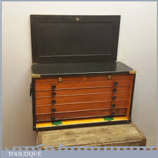 superb vintage pattern makers tool chest with 7 drawers nice storage box