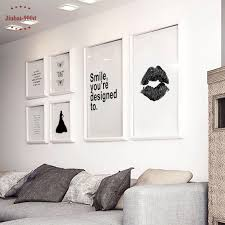 nordic canvas art print poster minimalism lip wall pictures for home decor wall art prints