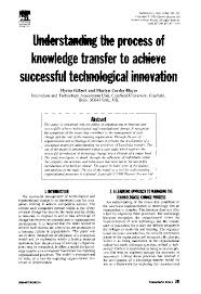 PDF) Understanding the process of knowledge transfer to achieve successful  technological innovation | Mumtaj Maya - Academia.edu