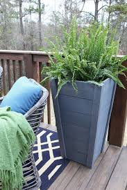 own tall outdoor planter boxes