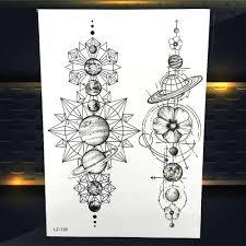 компасы геометрические животные временные татуировки наклейки поддельные лев