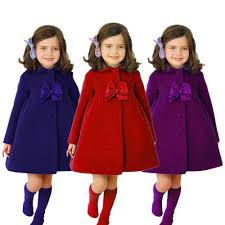 details about kid infant baby girl fall winter warm long coat cloak parka thick jacket outwear