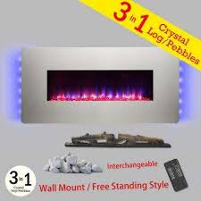 36 in wall mount freestanding convertible electric fireplace