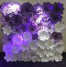 Flower Wall Sweet 16 Backdrop Giant Paper Flowers Wall Paper Flower