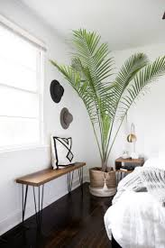 bedroom corner furniture. sam and lisau0027s bright bedroom corner feels tropical thanks to this tall plant furniture