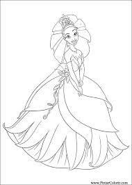 Tekeningen Te Schilderen Kleur Prinses Kikker Print Design 014