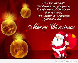 card santa merry christmas love quote