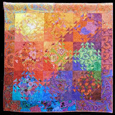 809 best Kaffe Fassett quilts images on Pinterest | Jellyroll ... & Shimmering Kaffe, 59 by by Karla Colle, quilted by Denise Green. The design  came from Shimmering Triangles by Jenny Bowker. Karla thought it would be a  ... Adamdwight.com