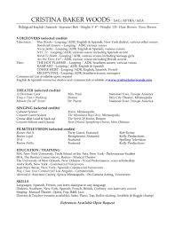 Opera Resume Template Opera Singer Resume Template RESUME 18