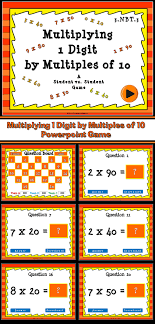 Multiplying 1 Digit Numbers by Multiples of 10 PPT Game | 21 ...