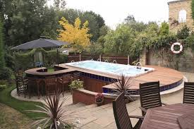 decoration 6 meter hot tub above ground pool swim spa outdoor spaces for above ground
