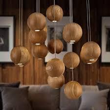 Nordic IKEA solid wood art creative lighting Hotel American