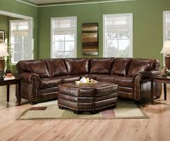 Amazing leather sofa ideas nailheads Brown Leather Amazoncom Simmons 9222dn Encore Brown Leather Sectional Sofa Ottoman Nailheads Kitchen Dining Amazoncom Amazoncom Simmons 9222dn Encore Brown Leather Sectional Sofa