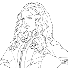 Evie Descendants 2 Coloring Page Milahny Bday Pinterest Evie