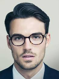 side part hairstyle glasses