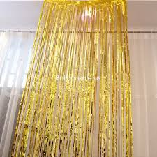 3ft x 8ft gold foil fringe door curtain for doorway decoration