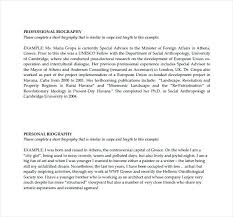 Biography Template Free Word Professional Bio Personal Samples Short