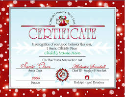 Christmas Certificates Templates For Word Adorable Santa's Nice List Certificate Red Other Files Patterns And