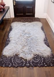 faux fur area rug mosaic found for fur area rug
