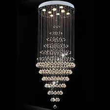 modern led crystal chandelier lighting pendant lights ceiling lamp fixtures with 8 bulbs d60cm h180cm ce