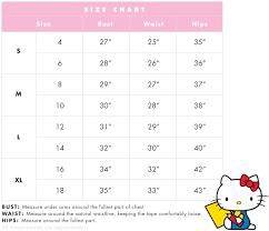 Hello Kitty Size Chart Hello Kitty Pj Set Oh What Fun