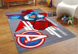 captain america square rug