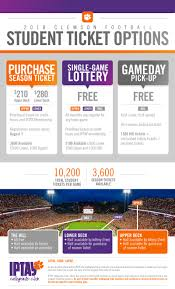 2018 Football Student Tickets Clemson Tigers Official